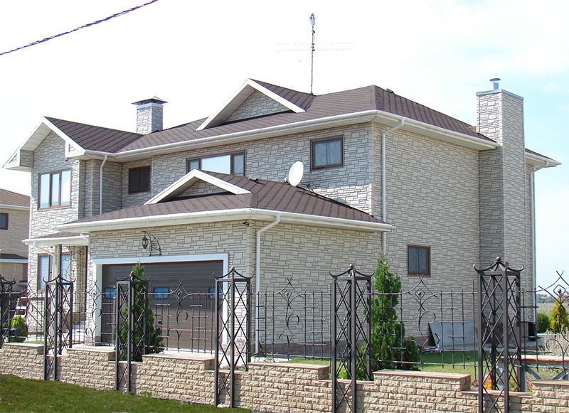 Фасад крыши отделка фото 7