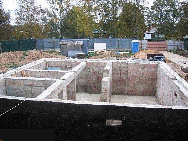 Фундамент под дом из газобетона в 2 этажа