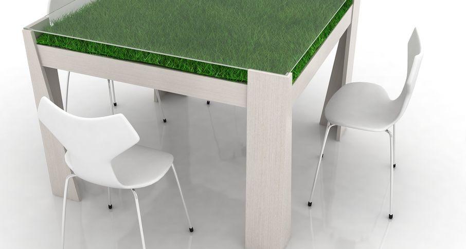 столик с травой