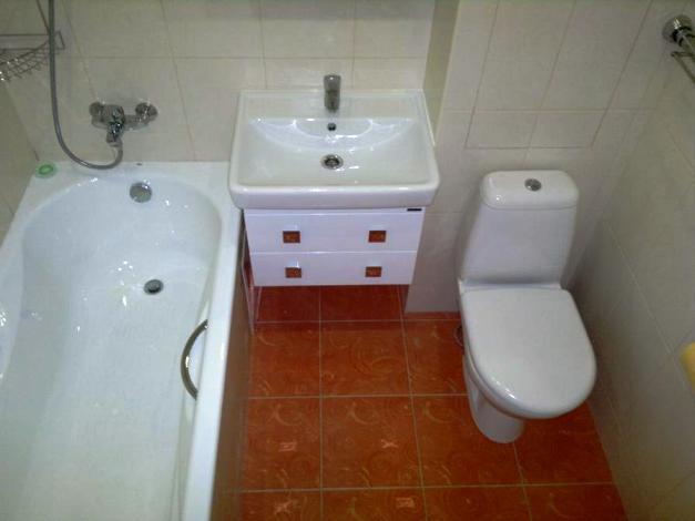 Как сделать ремонт в ванной с туалетом плиткой