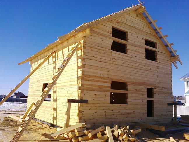 строим дом из бруса зимой