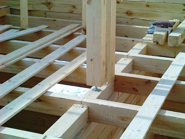 Строим дом из бруса зимой. Фотографии